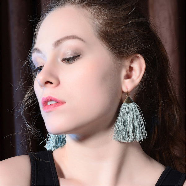 Gosfashion Bohemian Ethnic Style Tassels Earrings