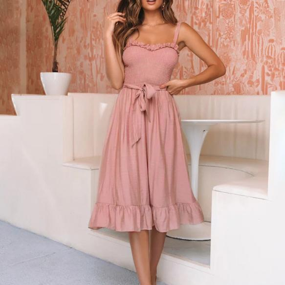 Gosfashion Stylish Slim Midi Dress