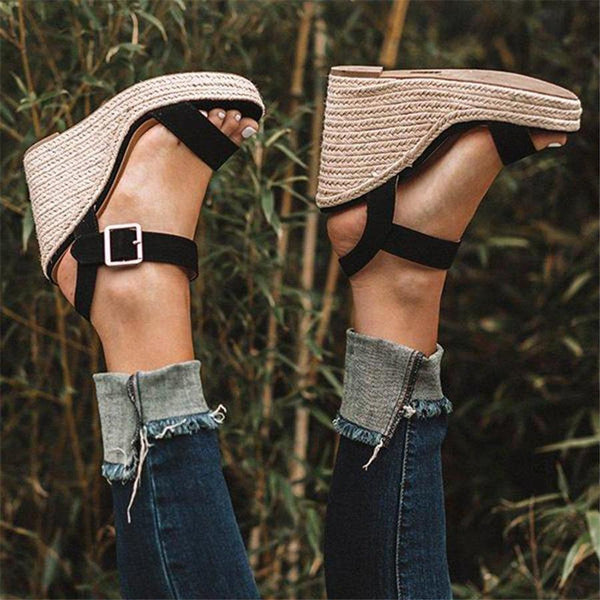 Gosfashion Fashion Twine Woven Wedge Sandals