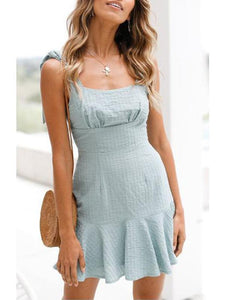 Random Elegant Sleeveless  Slim Bodycon Mini Dress