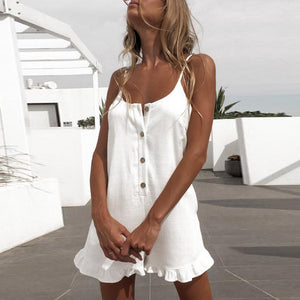 Gosfashion Sling Open Half-Access Hem Wooden Ear Side Playsuit