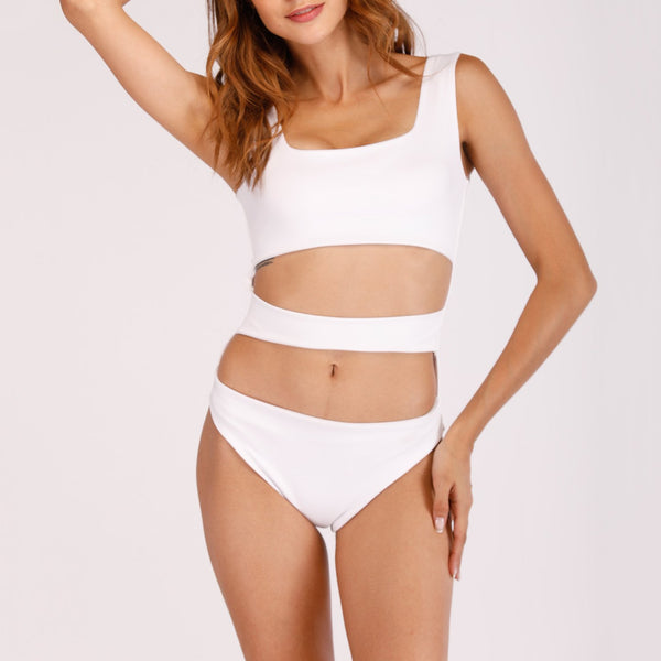 Gosfashion Sexy Bandage Vest Openwork One-Piece Swimsuit
