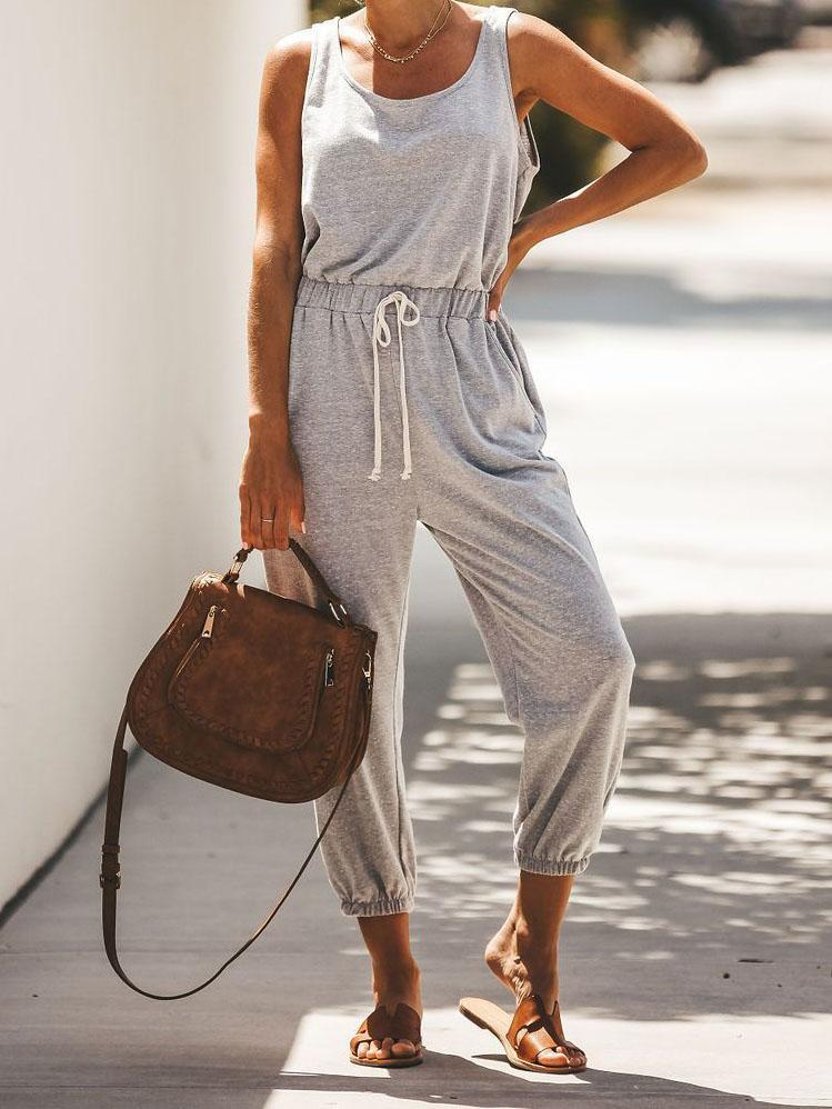 Gosfashion Fashion Casual Lace Jumpsuit
