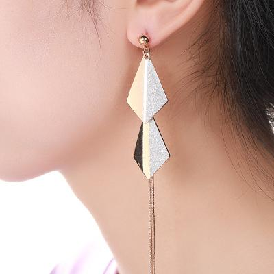 Gosfashion Diamond Fashion Temperament Long Earrings