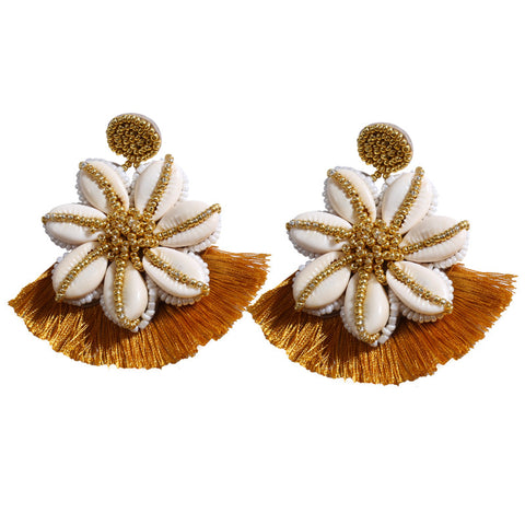 Gosfashion Fashion Bohemian Hand-Made Flower Earrings