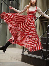 Load image into Gallery viewer, Vintage Striped  Maxi Dresses