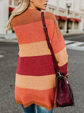 Load image into Gallery viewer, Fashion Color Block Long Sleeve Stripes Cardigans