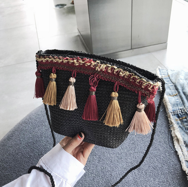 Gosfashion Ethnic wind braided chain messenger bag