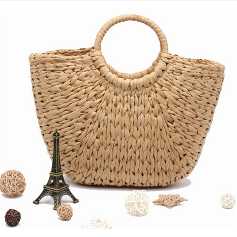 Gosfashion Holiday wind wheat straw weave handbag
