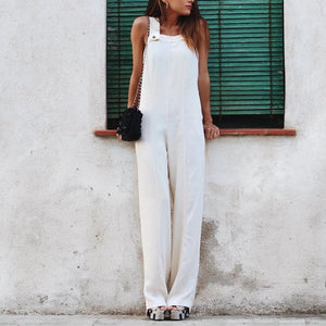 Gosfashion Fashion Plain Sleeveless Jumpsuit