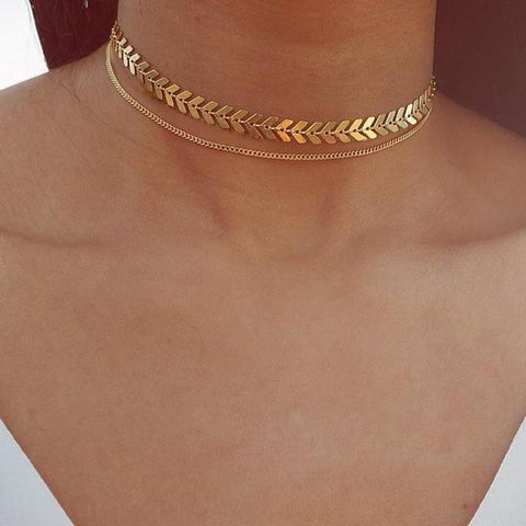Gosfashion Temperament Fashion Fishbone Chain