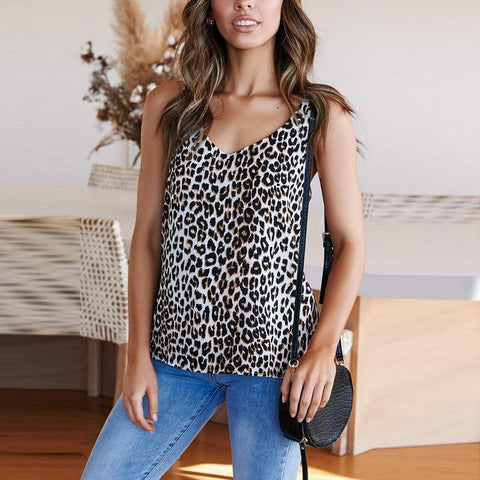 Gosfashion Fashion Casual Print Vest Top