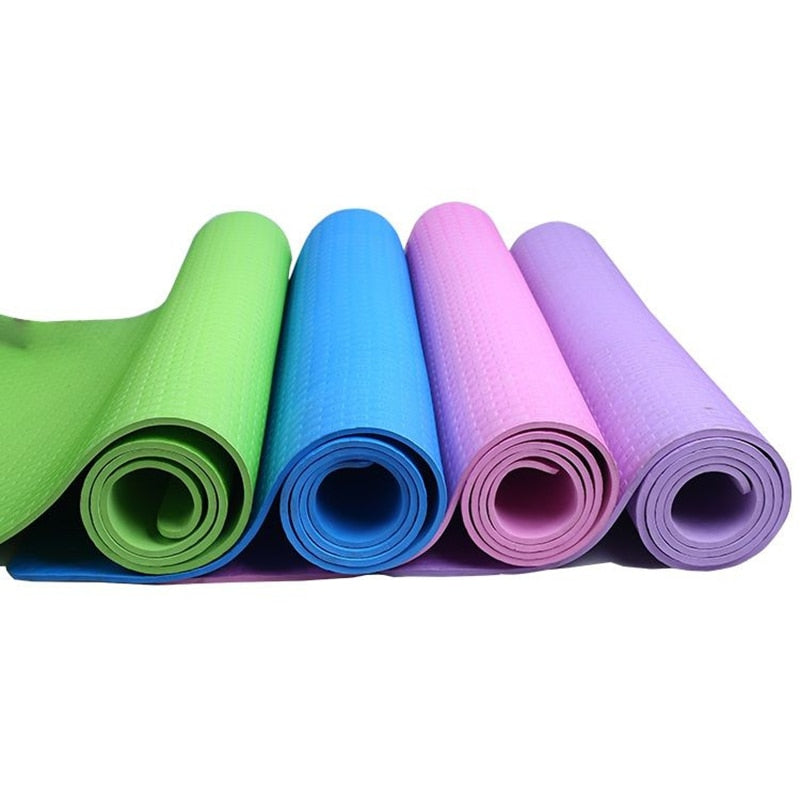 6MM Thick EVA Comfort Foam Yoga And Pilates Mat Shape The Body To Exercise Flexibility Exercise Fitness Workout Equipment