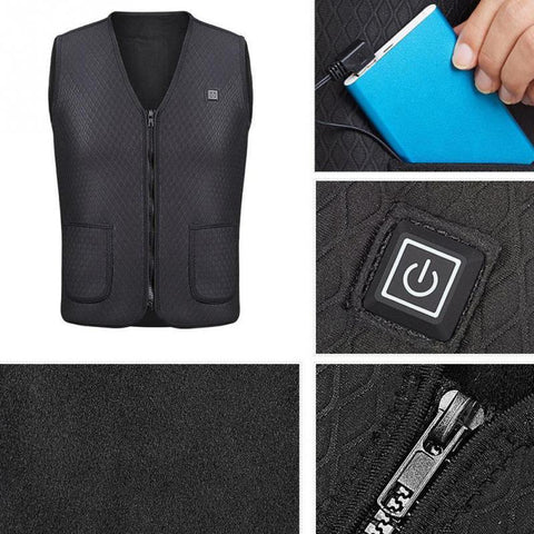 Outdoor Heating Vest Hiking Clothing USB Charging Intelligent Vest By Wild Crave
