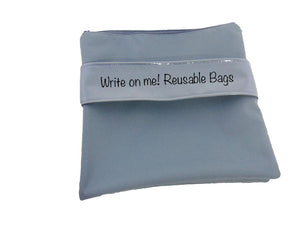 Reusable Bags sandwich size - write on me!