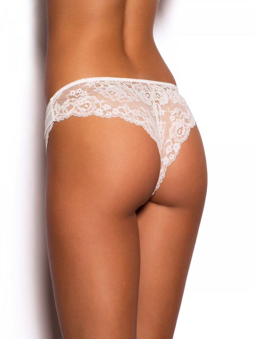 White Lace Thong Knickers