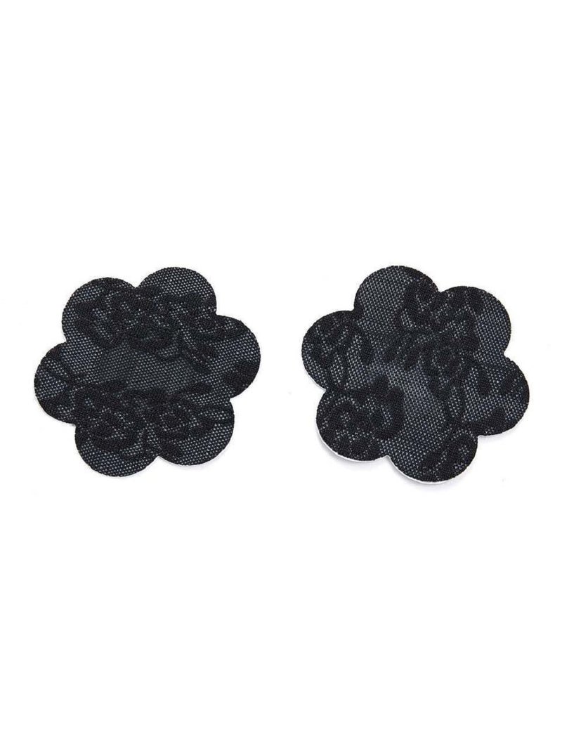 Black Floral Nipple Cover 2 Pairs