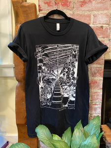 In the Greenhouse T-Shirt - Mickey Hargitay Plants