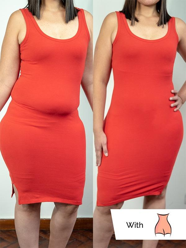 94e582e996a70 ... Nude High Waisted Shaper Shorts  empetua shaper shorts before and after in  a dress ...