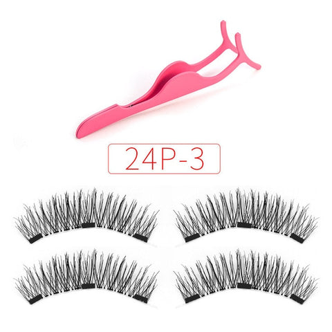 eacc383a73a Applicator Magnetic eyelashes with 3 magnets natural false lashes ...