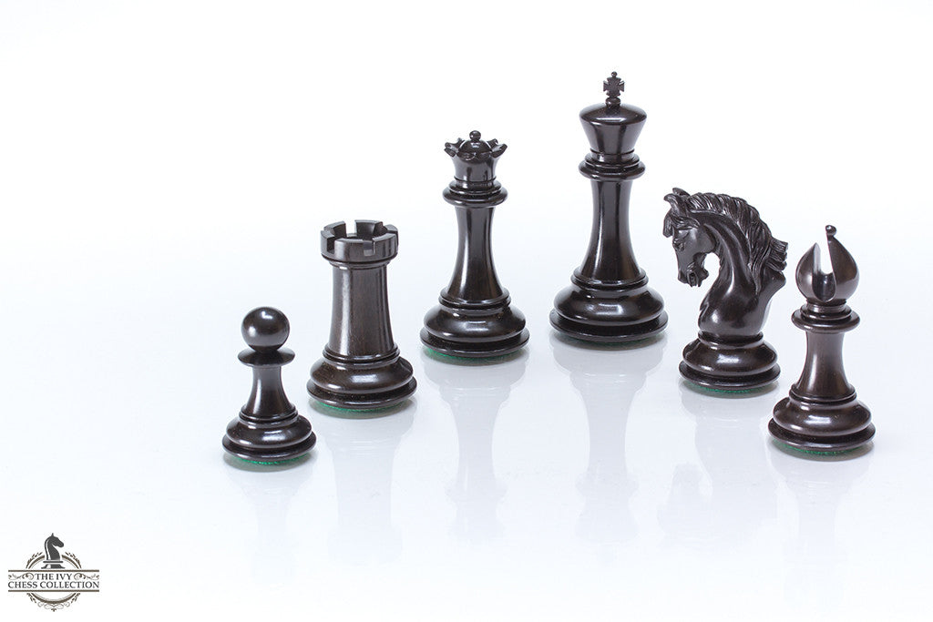 Elegant Chess Pieces - Ebony