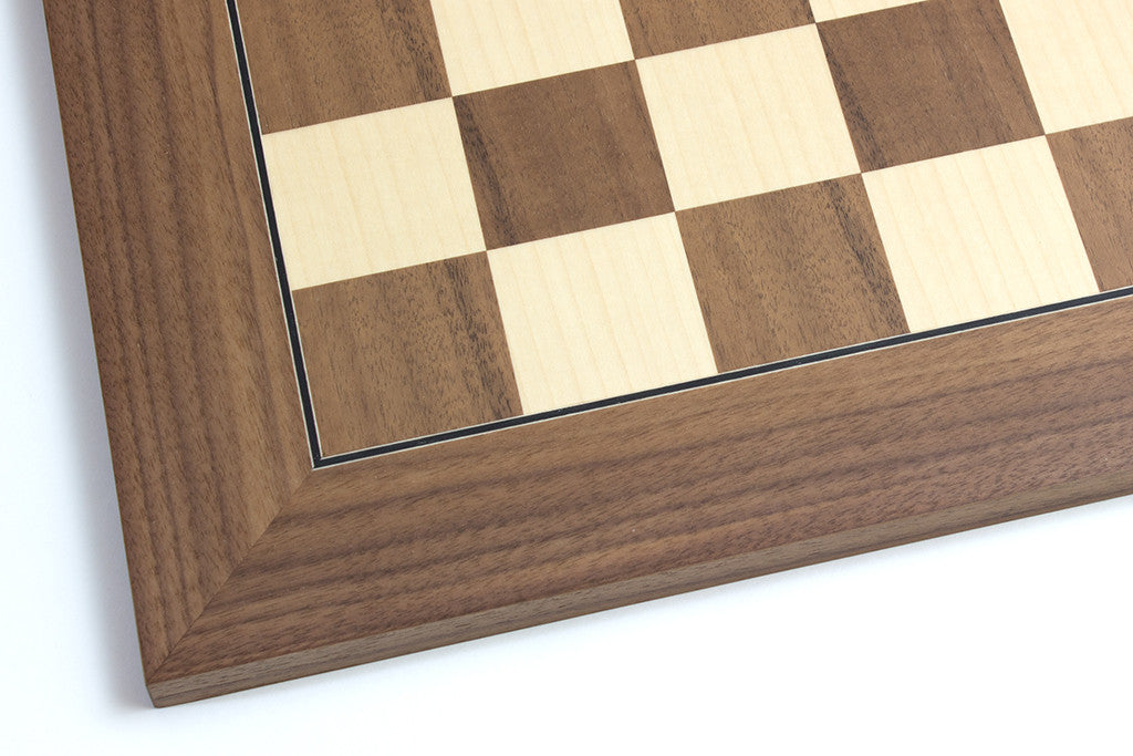 "Walnut and Maple Chess Board - 1.96"" Squares"