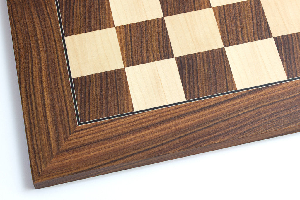 "Santos Palisander and Maple Chess Board - 1.96"" Squares"