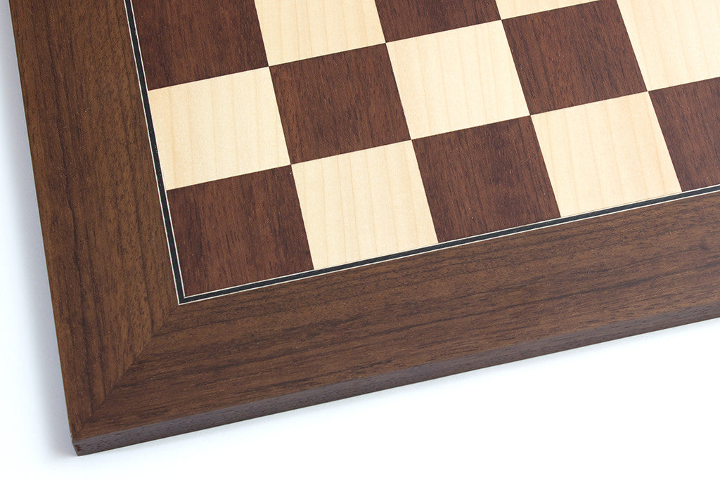 "Montgoy Palisander and Maple Chess Board - 1.96"" Squares"