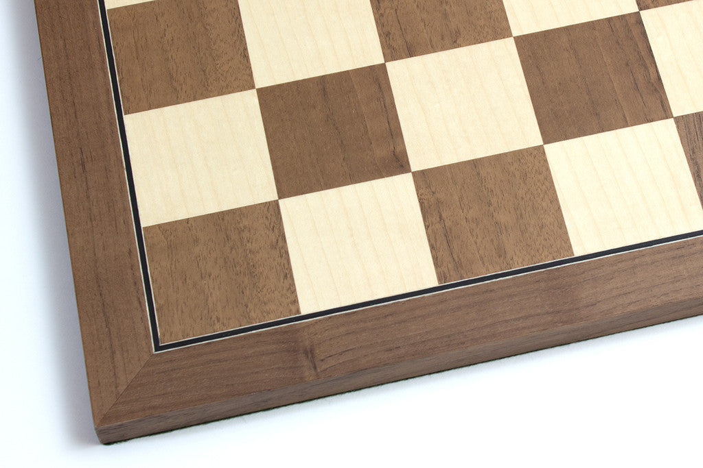 "Folding Walnut and Maple Chess Board - 1.96"" Squares"