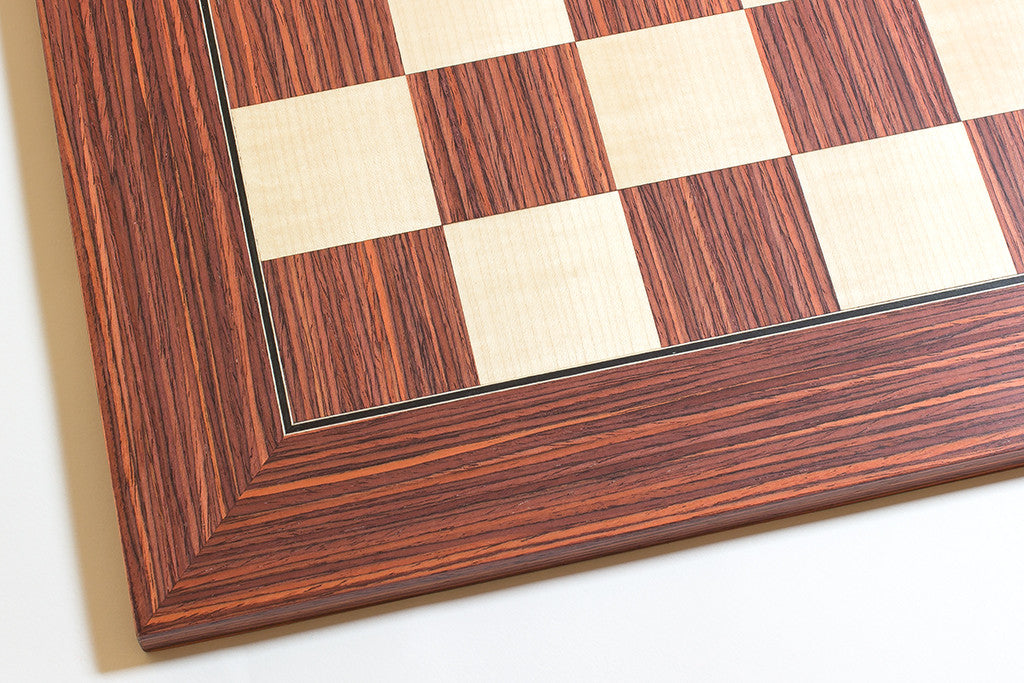 "Rosewood and Maple Chess Board - 1.96"" Squares"