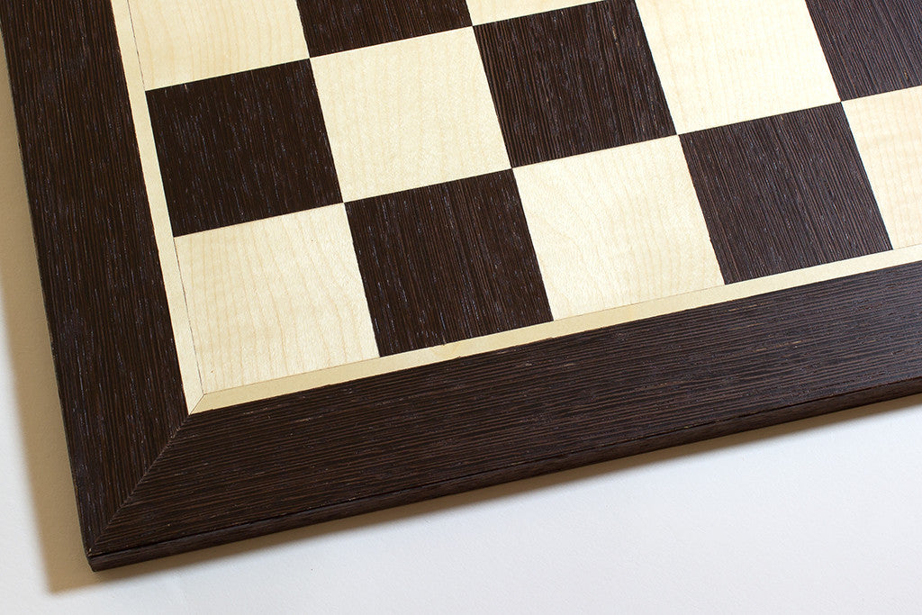 "Wenge and Sycamore Chess Board - 1.96"" Squares"
