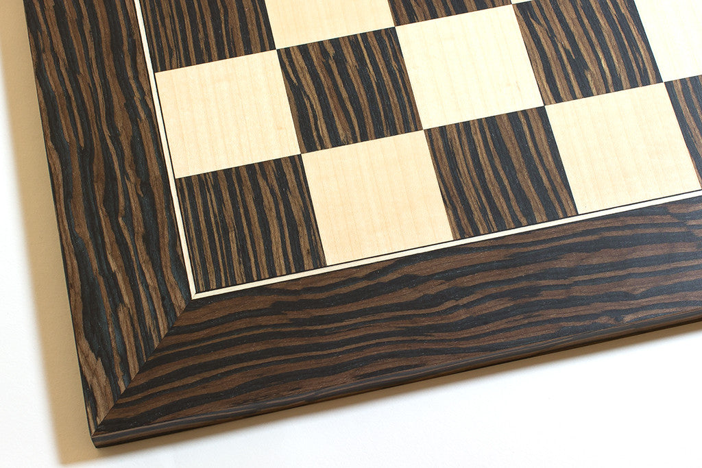 "Tiger Ebony and Maple Chess Board - 1.77"" Squares"