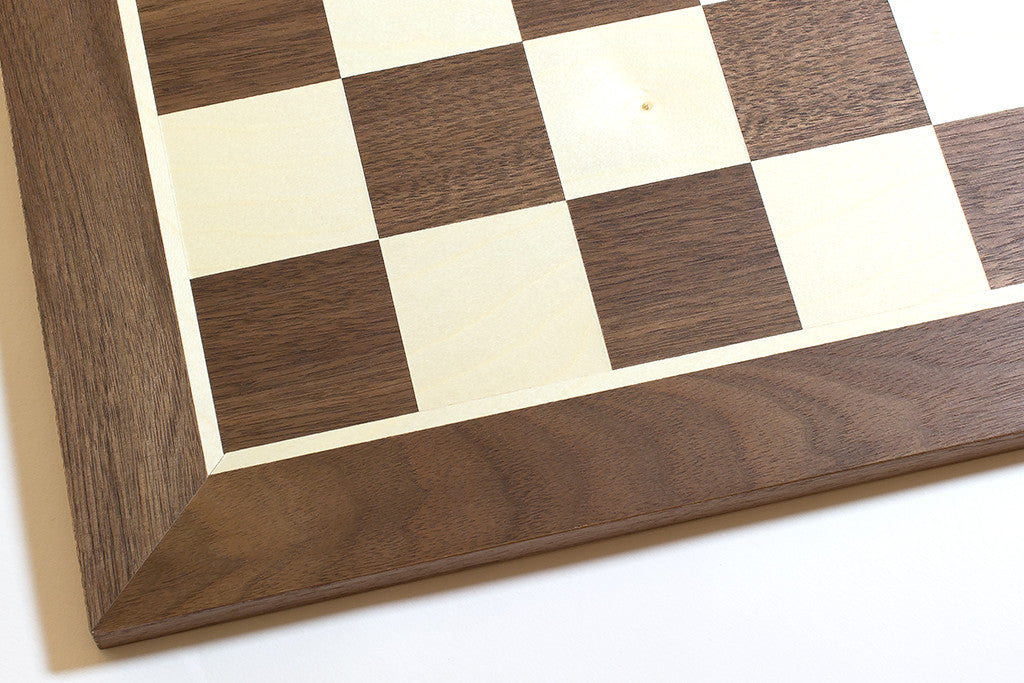 "Walnut and Sycamore Chess Board - 1.96"" Squares"