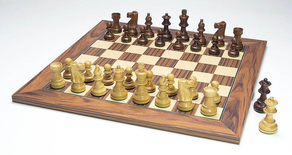 French Lardy Chess Set With Santos Palisander Chess Board