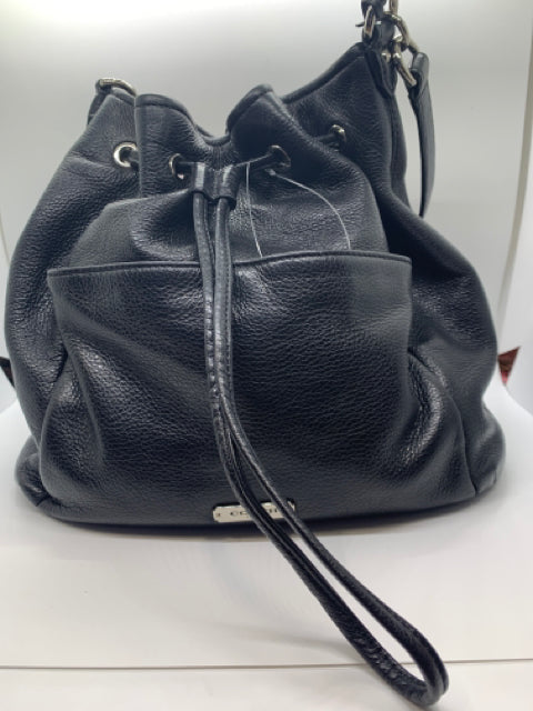 Coach Black Pebbled Leather Purse
