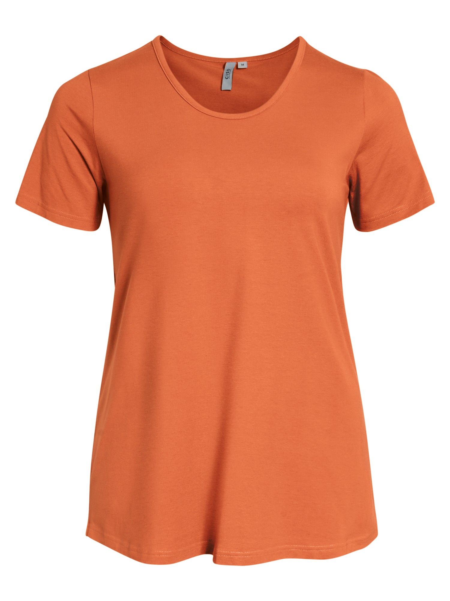 Image of   Basis T-shirt i A-facon med korte ærmer - Jaffa orange