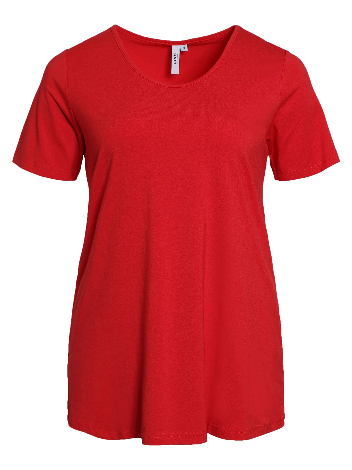 Image of   Basis T-shirt i A-facon med korte ærmer - Chinese Red