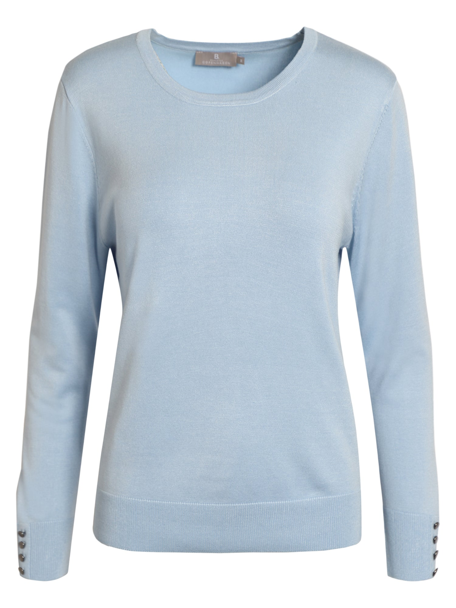 Image of   Pullover med O-hals - Chambray Blue