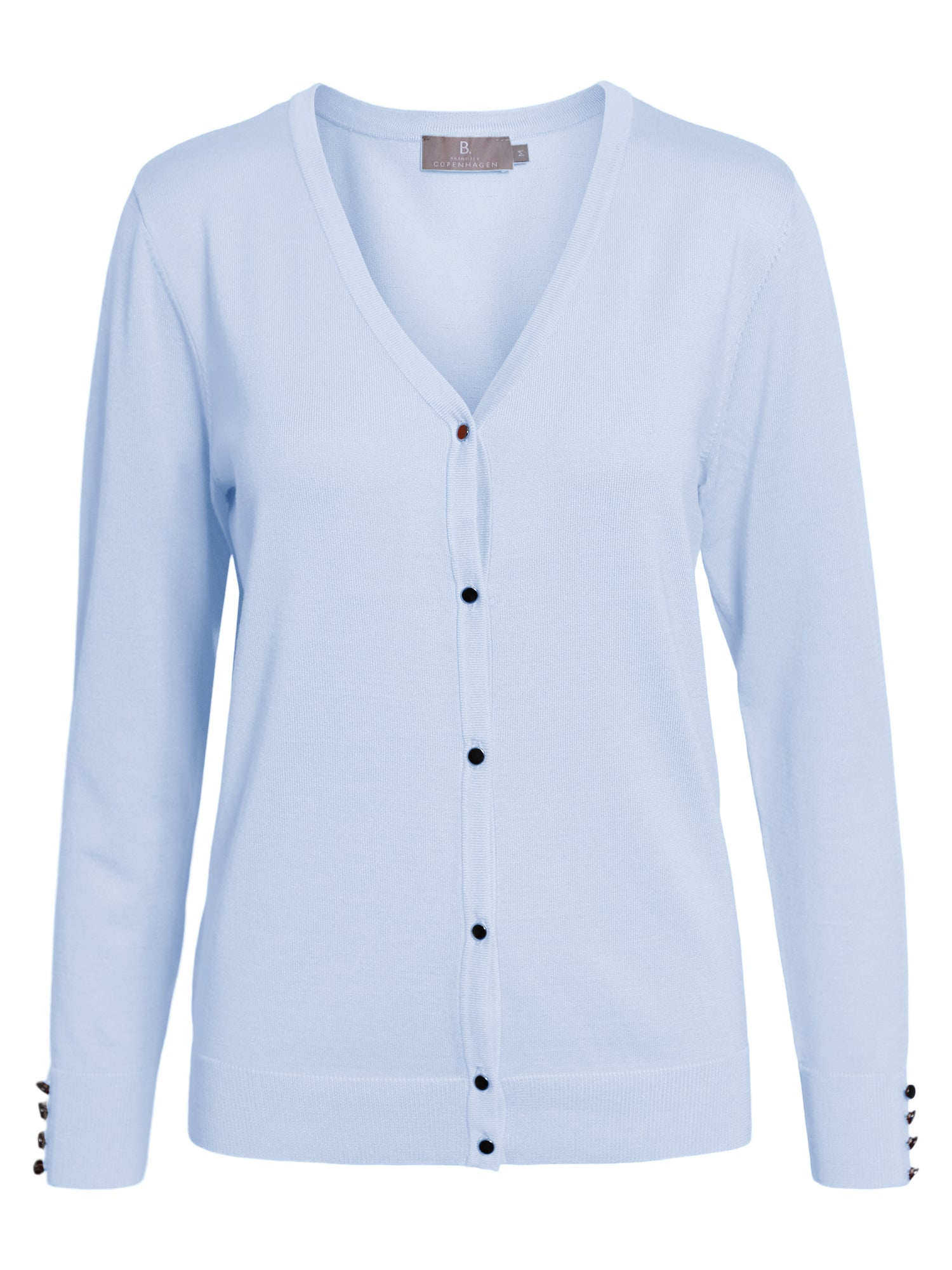 Image of   Cardigan med V-halsudskæring - Chambray Blue