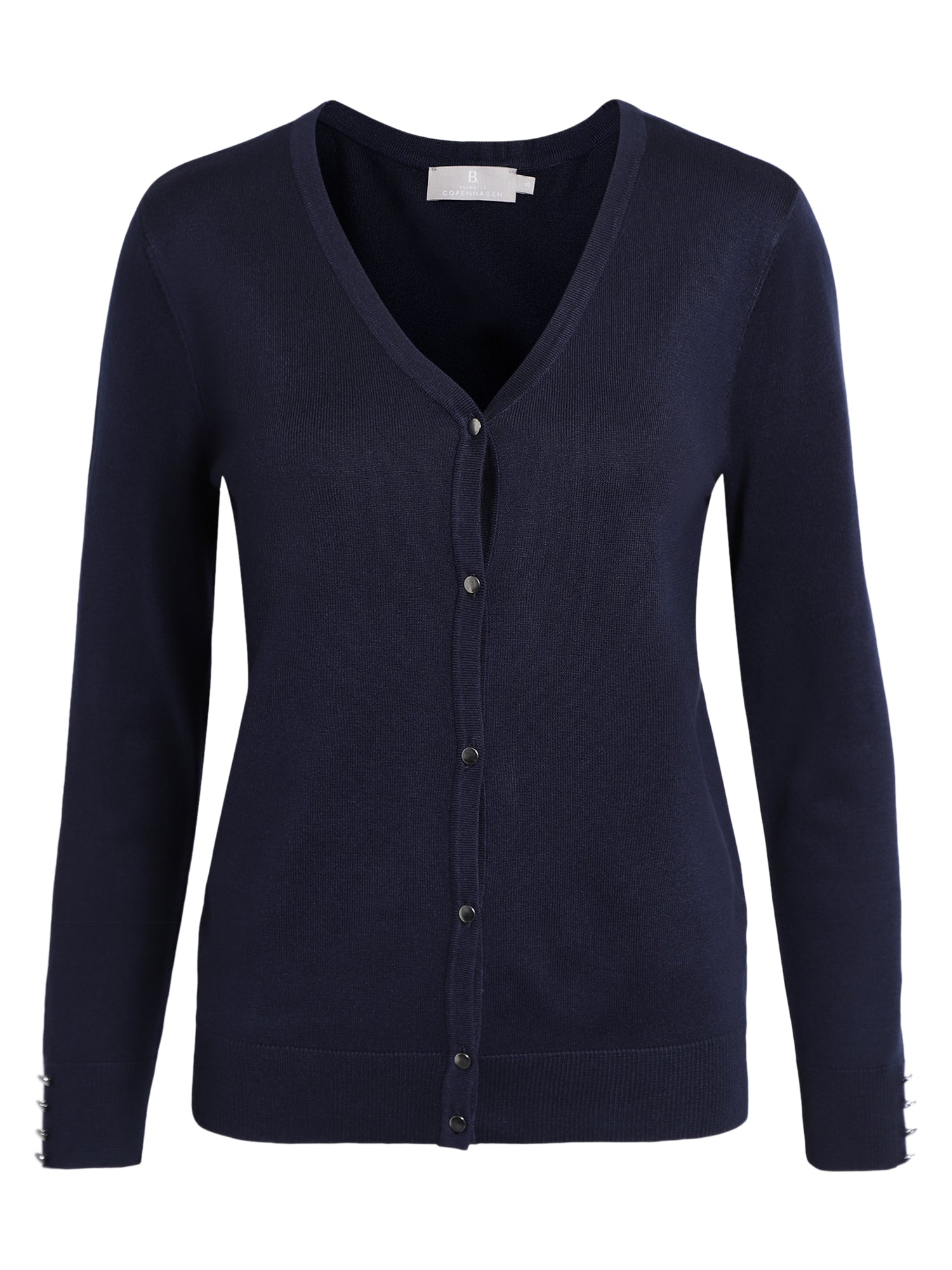 Image of   Cardigan med V-halsudskæring - Midnight Blue