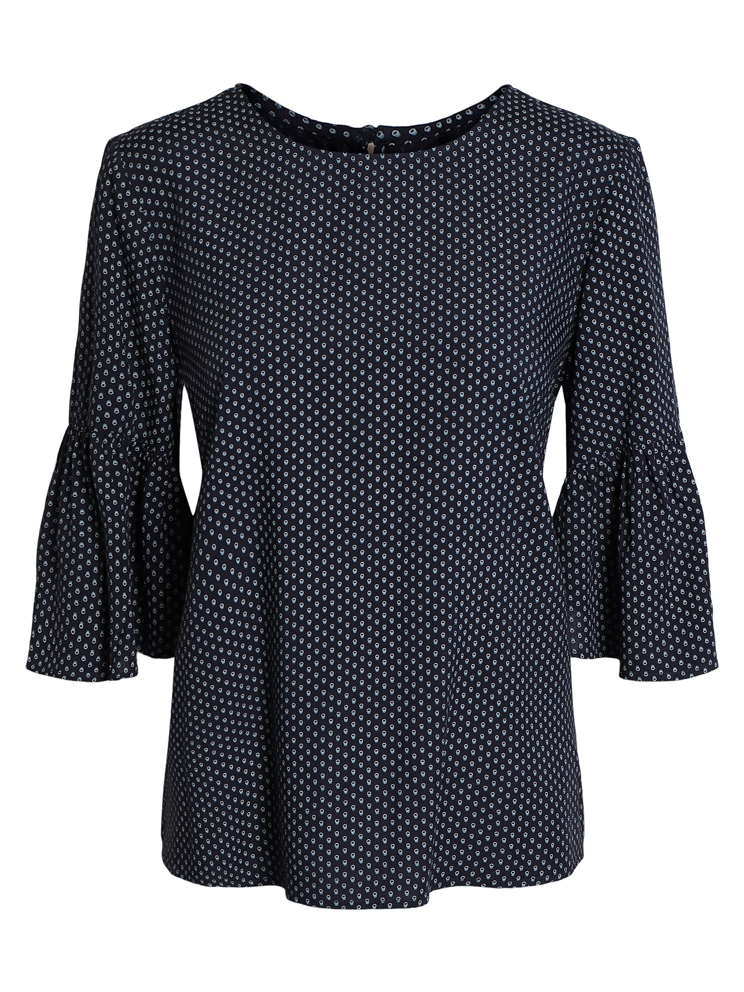 Image of   Bluse med 3/4 ærmer - Navy Mix