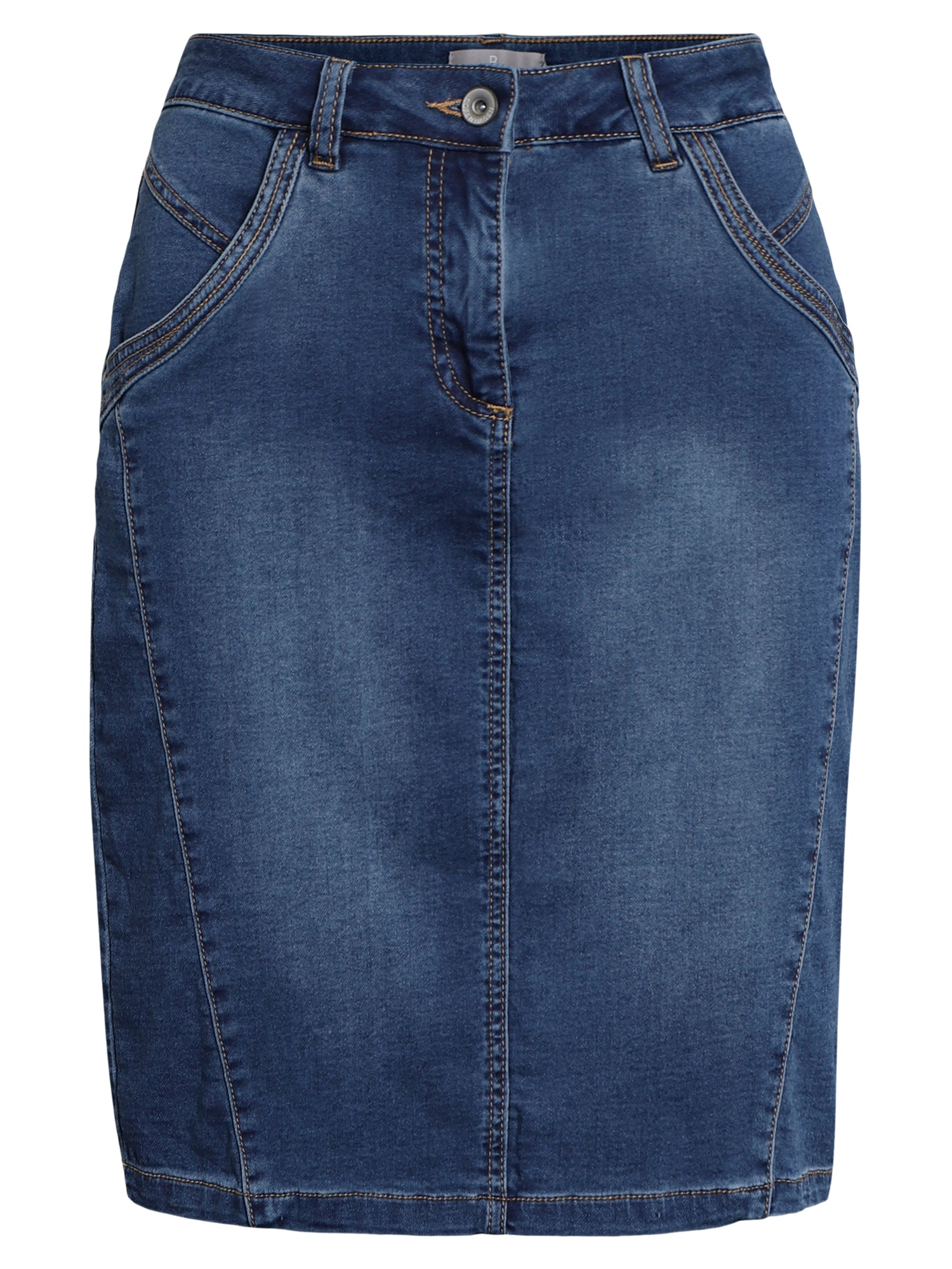 Image of   Denim nederdel - Washed denim