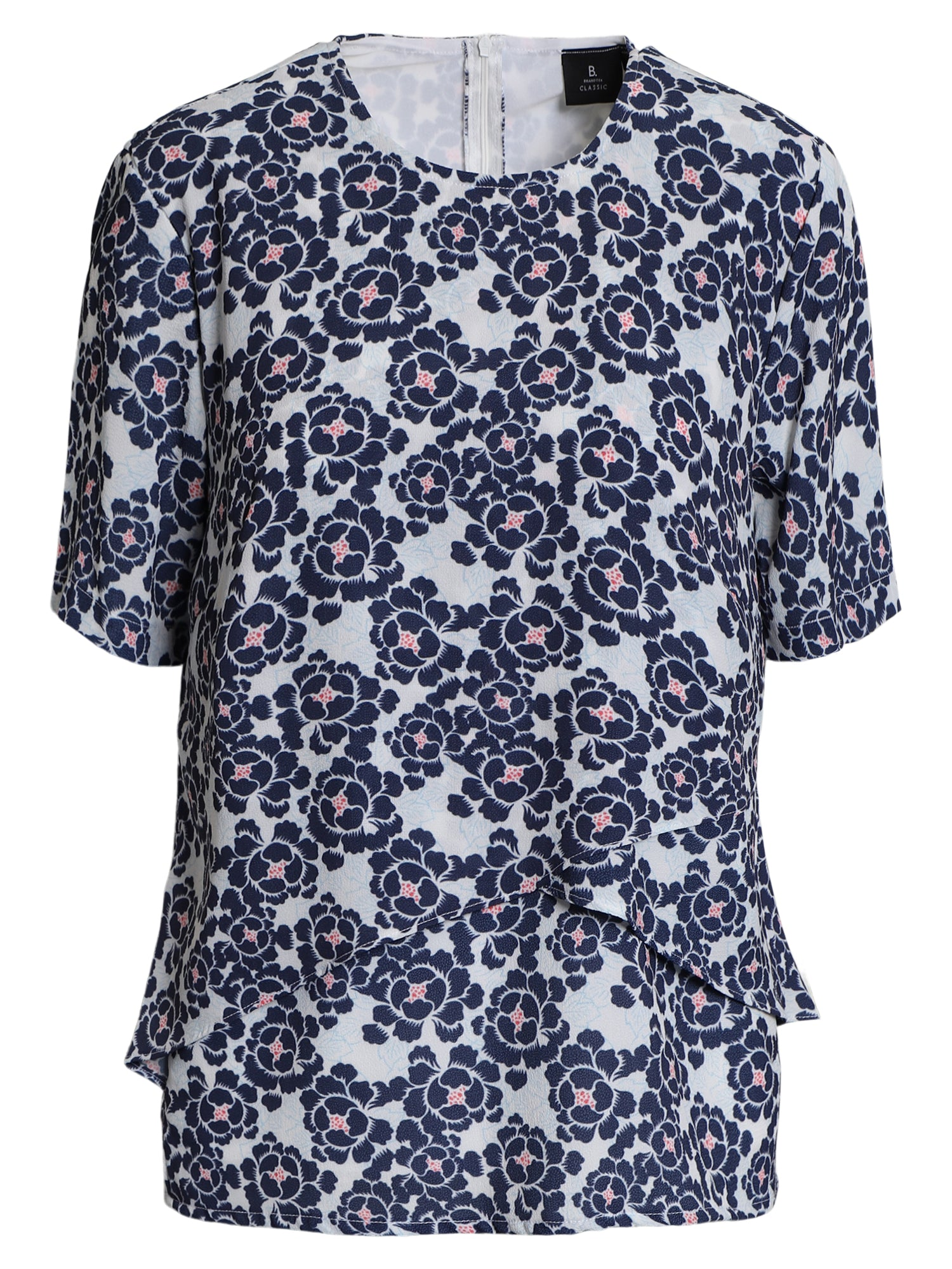 Image of   Bluse med print - Midnight Blue