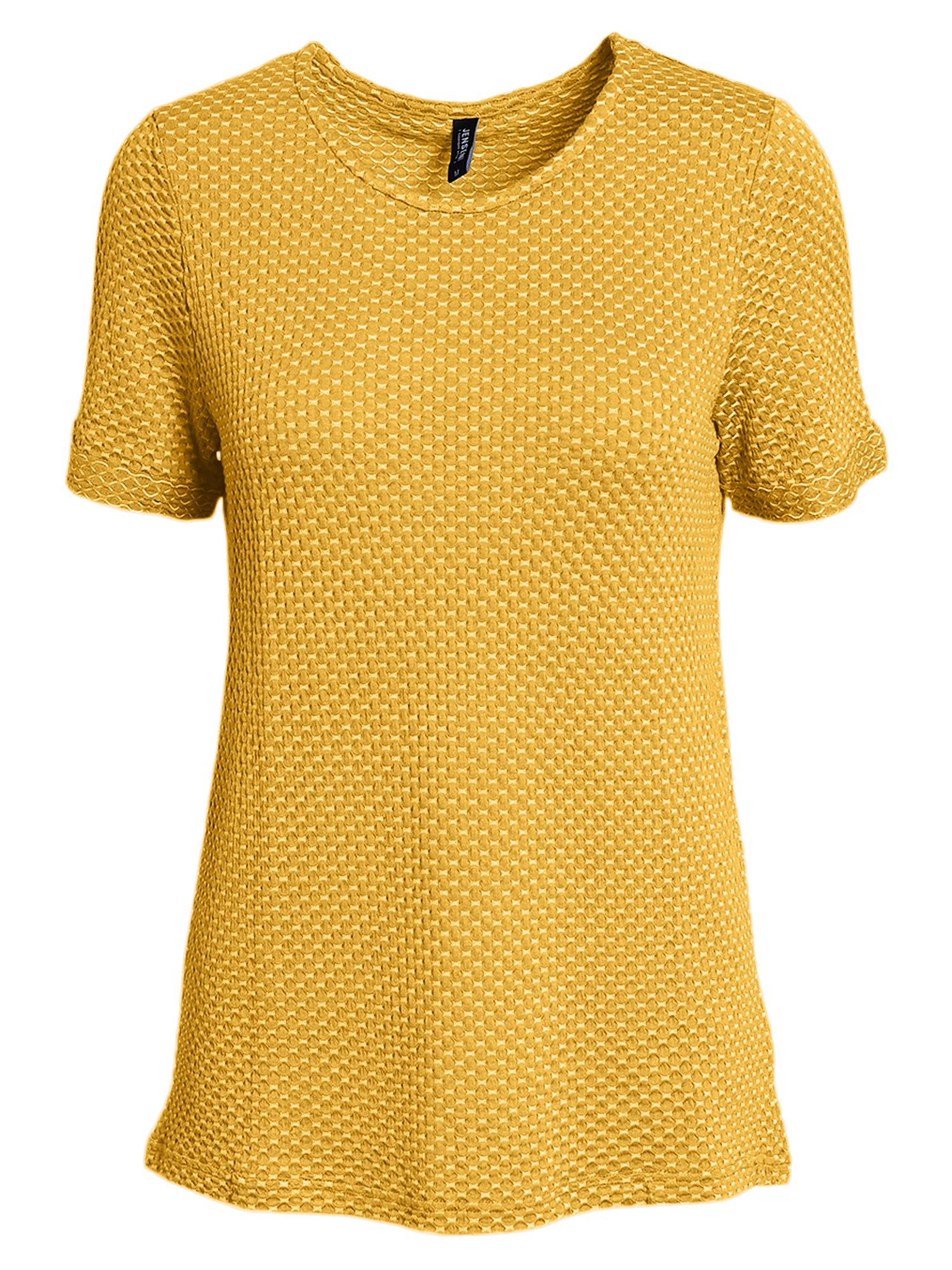 Image of   Jacquard T-shirt - Golden Yellow