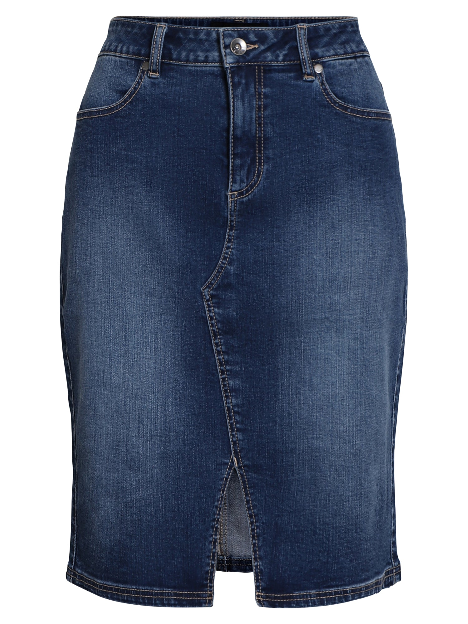 Image of   Denim nederdel - denim w. blast