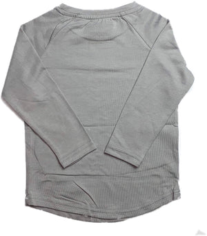 KK LONG SLEEVE TEE//GRAY
