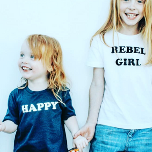 100% Organic Cotton 'Happy' Tee