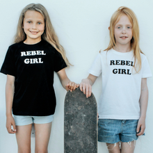 Load image into Gallery viewer, 100% Organic cotton 'Rebel Girl' children's t-shirt