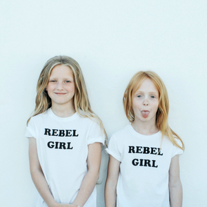 100% Organic cotton 'Rebel Girl' children's t-shirt