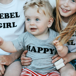100% Organic Cotton 'Happy' Baby Tee